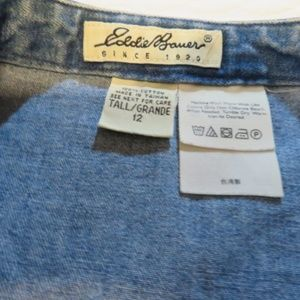 Eddie Bauer Skirts - Eddie Bauer 100% Cotton Long Denim Skirt (H4)